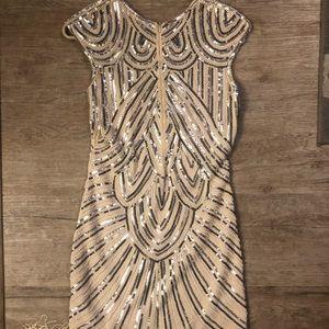 Gatsby/flapper 1920 Sequin fringe dress
